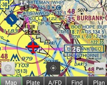 KBUR Map View